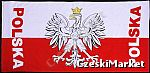 Ręcznik plażowy, na siłownię etc dla kibica - Polska - 75 / 150 cm - prezent nie tylko dla kibica