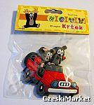 Magnes 3D - Krecik i myszka w autku 7 cm/ 7,5 cm