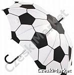 Parasol kibica - biało - czarny (prawie jak piłka nożna) dla kibica - na jesień, deszcz, na mecz