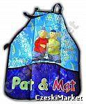 Zmywalny fartuch - Sąsiedzi - Pat i Mat - np. do szkoły, do świetlicy, do zabawy w domu