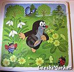 Obrazek, podkładka korkowa Krecik i łąka 25 cm