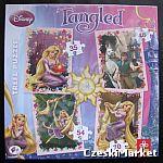Puzzle 4 w 1 film bajka Zaplątani Tangled - 4 różne obrazki