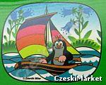 Krecik - zasłonki, osłonki do samochodu, przeciwsłoneczne - 2 szt. - wzór: łódka