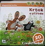 Książka magnetyczna Krecik i przyroda- 20 magnesów (możliwe czeskie i polskie napisy)
