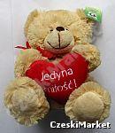 Miś pluszowy Serce Jedyna Miłość Walentynki Mikołajki rocznica prezent