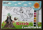 Krecik - 30/42 cm zestaw kreatywny malowanka 8 rysunków do malowania, 8 farbek, pędzel