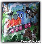 Poduszka 40/40 cm - Krecik w pociągu - wysoka jakość