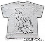 """Koszulka Pat i Mat biała obrys - serial Sąsiedzi  - 122 cm Rozmiar podajemy w koszyku w """"wiadomości dla sprzedającego"""""""