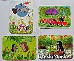 Pocztówka, kartka - Krecik i przyjaciele - 6 wzorów (dostępne - słoń , żaba, arbuzy, jeż)