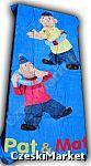 Ręcznik plażowy niebieski, na basen, po kąpieli Sąsiedzi Pat i Mat - 75 / 150 cm