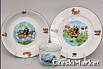 Woda Porcelanowy zestaw dla dzieci Krecik - talerz głęboki, płytki oraz kubek
