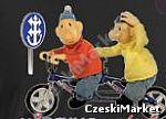 Koszulka czarna Pat i Mat i rower na rowerze - oryginalna - serial Sąsiedzi  - rozm  L, XL