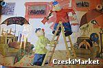 Plakat - Sąsiedzi Pat i Mat - malowanie, malarze