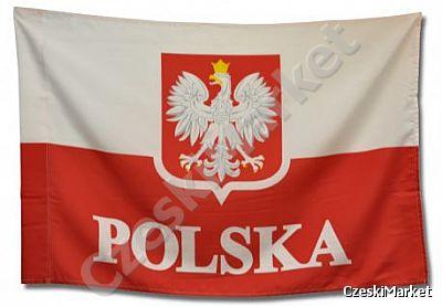 Kombinacja Flaga Polski Godło 90 150 Cm Polska Czeski Market