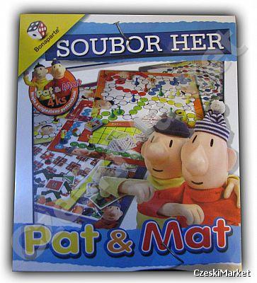 dc455dc86f97c0 Zestaw 8 gier planszowych (z figurkami) - Pat i Mat - Sąsiedzi - 8 x ...