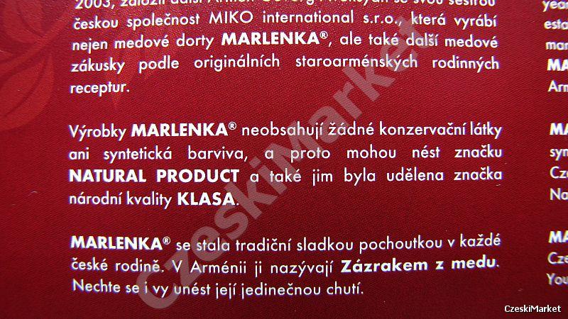 Marlenka - oryginalna - eleganckie kulki miodowe z kakao - 10 sztuk - np. na urodziny, Dzień Matki, Ojca, Babci, Dziadka, Dziecka, Walentynki