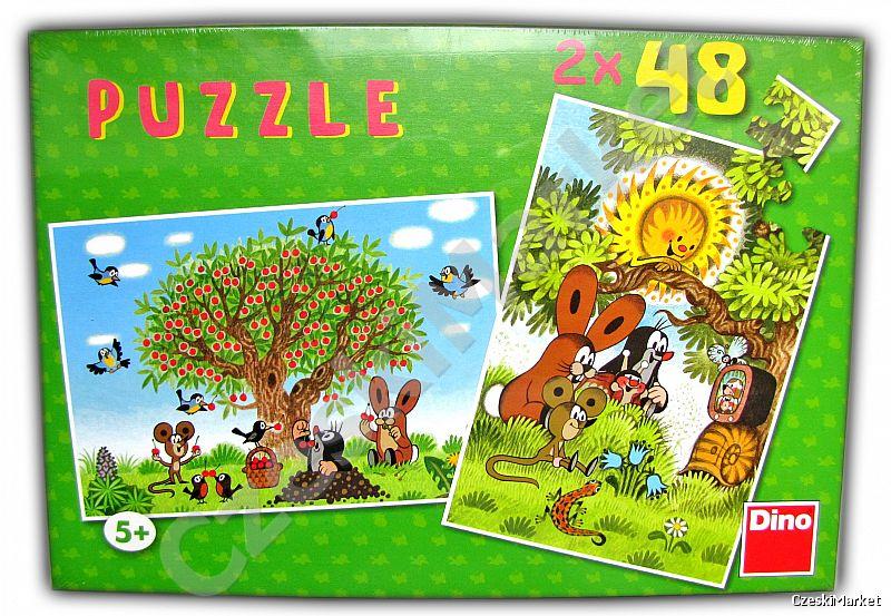 Puzzle Krecik - 2 x 48 elementów