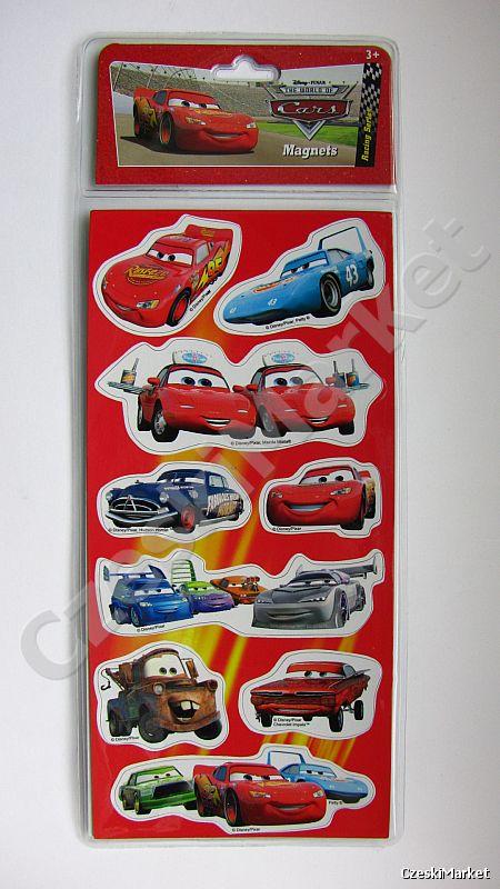 Auta, Cars - magnesy 9 sztuk - różne kształty!