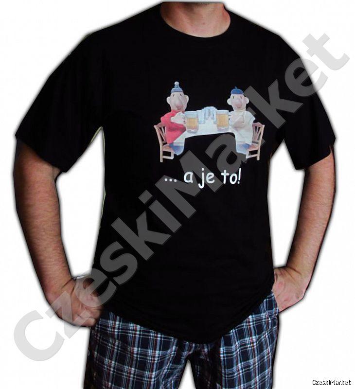 """Koszulka Pat i Mat i piwo (z napisem lub bez) - serial Sąsiedzi  - rozm M, L, XL, XXL   Rozmiar podajemy w koszyku w """"wiadomości dla sprzedającego"""""""