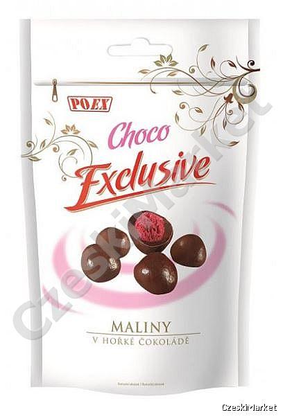Maliny w gorzkiej czekoladzie 400 g - exclusive