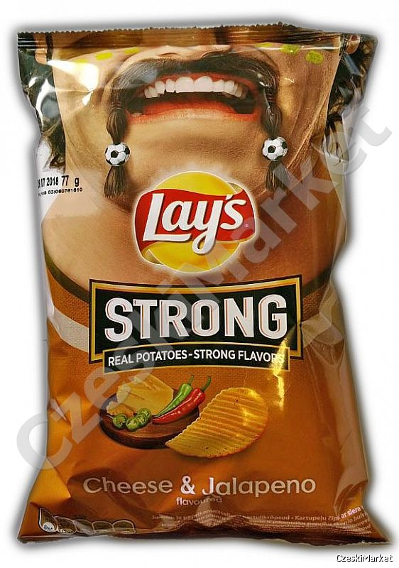 Chipsy Lays - Cheese and Jalapeno 65 g