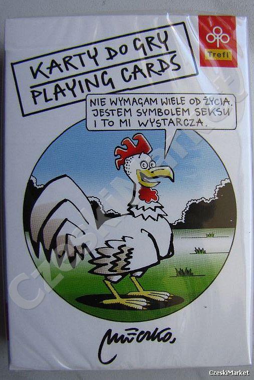 Satyryczne Karty do gry dla Dorosłych. Satirical Playing cards Andrzej Mleczko